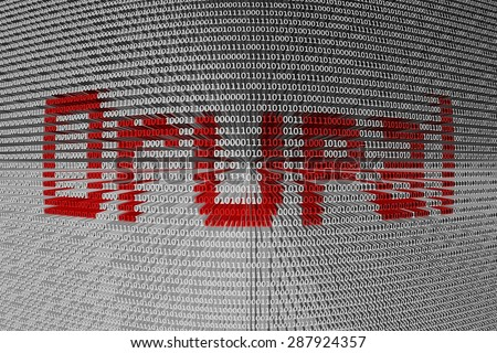 binary code Drupal  - stock photo