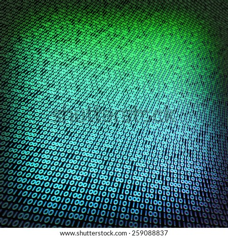 Binary code green variant 02 - stock photo