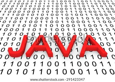 binary code java - stock photo
