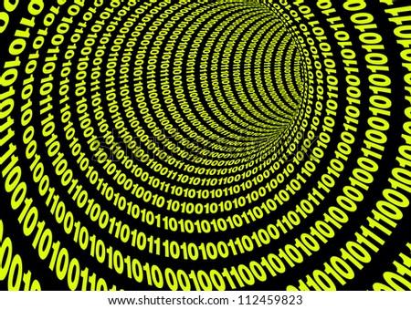 Binary Code Tube - stock photo