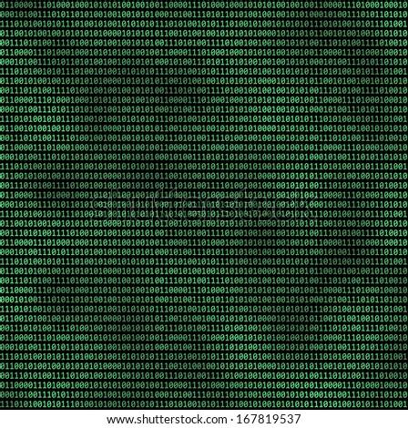 Binary computer code - stock photo
