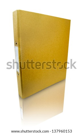 Binder blank file folder - stock photo