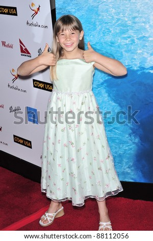 Bindi Irwin at the G'Day USA Australia.com Black Tie Gala at the Hollywood & Highland Centre, Hollywood, CA. January 19, 2008  Los Angeles, CA Picture: Paul Smith / Featureflash - stock photo