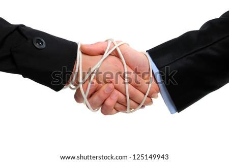 Binding contract - stock photo