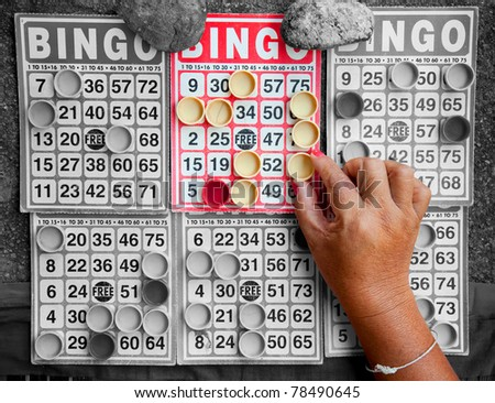 bingo card - stock photo