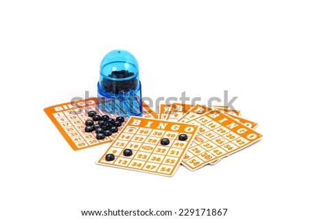 Bingo card game isolated - stock photo