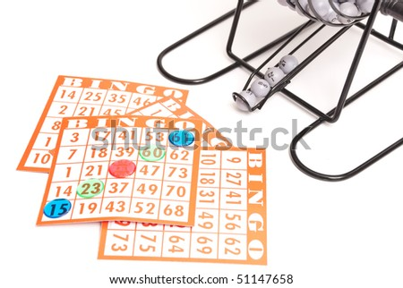 Bingo Cards with Winning Diagonal - stock photo