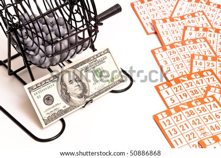 Bingo Gambling - stock photo