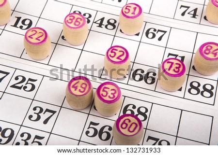 Bingo game background - stock photo