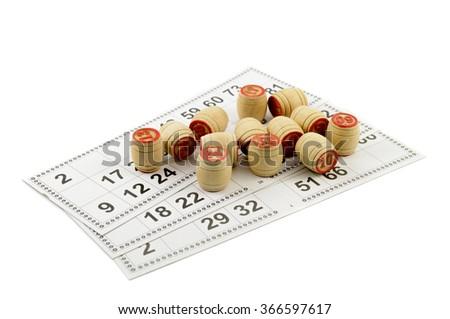Bingo game isolated on white background  - stock photo