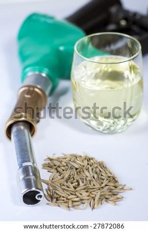 Bio-fuel close up - stock photo