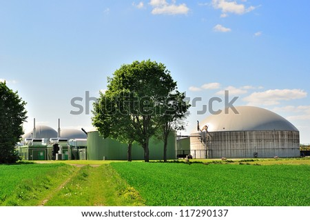 Bio fuel plant. - stock photo