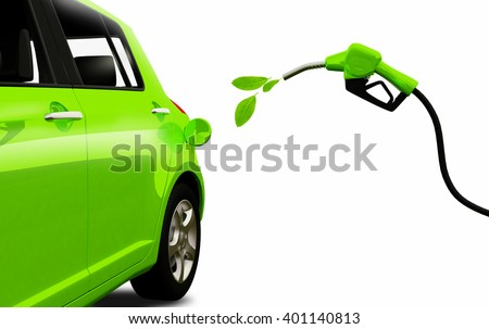Biofuel. Eco fuel. Green energy. Save the earth, ecology, alternative energy. - stock photo