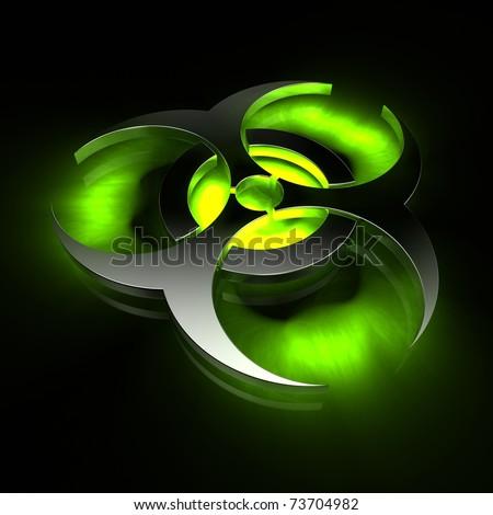 biohazard - green - stock photo