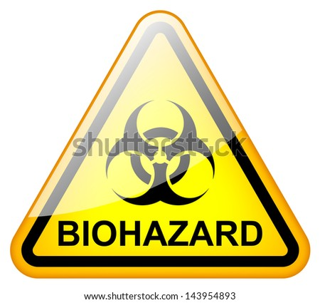 biohazard sign - stock photo