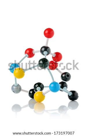 biological model of a protein molecule - stock photo