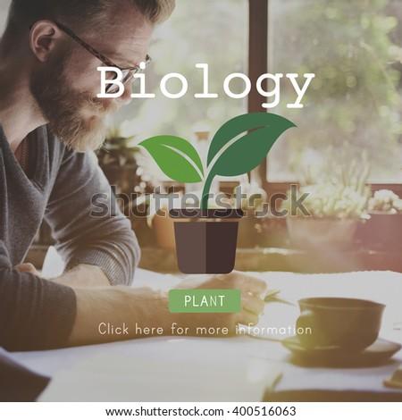 Biology Biotechnology Physics Laboratory Science Concept - stock photo