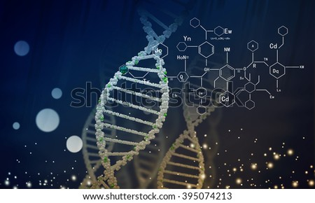 Biotechnology genetic research - stock photo