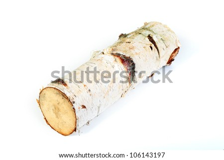 birch firewood log - stock photo