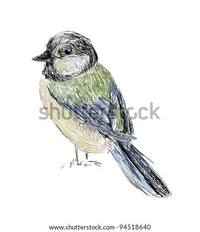 Bird Hand drawn - stock photo