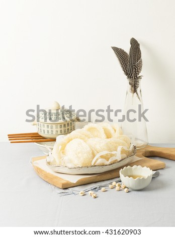 Bird's nest or Salanganes, a luxury food from nature - stock photo