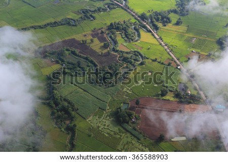 birds eye view of the earth - stock photo