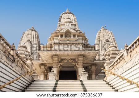 Birla Mandir is a Hindu temple located in Kolkata, India - stock photo