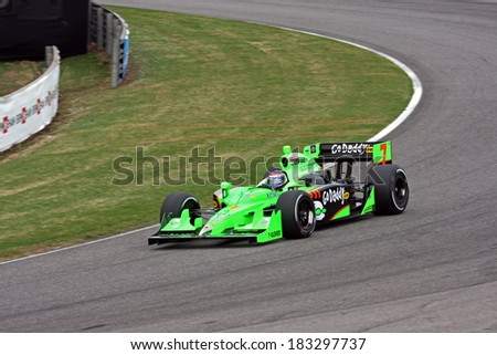Birmingham Alabama USA - April 10, 2011: #7 Danica Patrick, United States Andretti Autosport,  Grand Prix of Alabama. - stock photo
