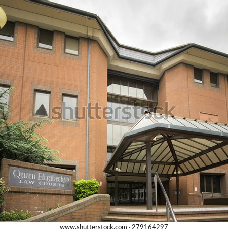 Birmingham,England. May 18th 2015  Queen Elizabeth Law Courts ii in the second largest city in the country. - stock photo