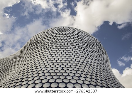 Birmingham - England, May 3,2015:  World famous building housing Selfridges, there stores are known for architectural innovation and excellence and are tourist destinations in their own right - stock photo