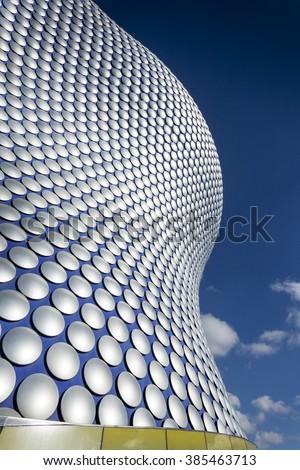 BIRMINGHAM, UK - February 24 2016: Architectural detail of Bullring Shopping Centre,  Birmingham, West Midlands, England, UK, Western Europe - stock photo