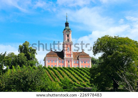 birnau basilica on the lake constance, germany - stock photo