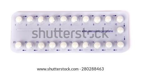 Birth control pills, contraceptive pill, Contraception Methods and Women's Health - stock photo