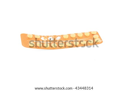 birth control pils - stock photo