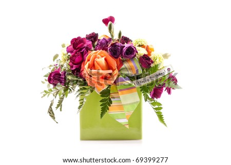 Birthday Bouquet Gift - stock photo