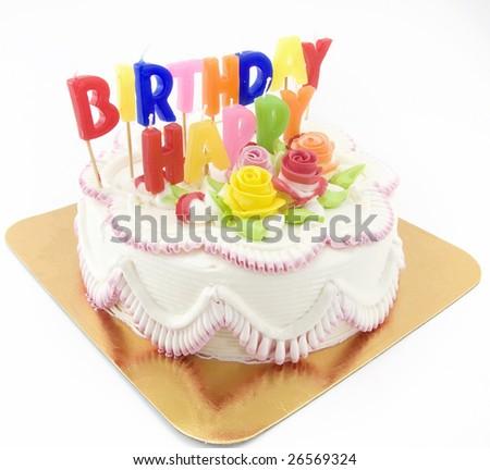 birthday cake - stock photo