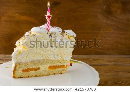 Birthday cake invitation mockup. Birthday Cake. Meringue cake. Pavlova. Birthday card. Birthday background.  Invitation mockup. Birthday mockup. - stock photo