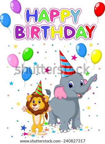 Birthday card background  - stock photo