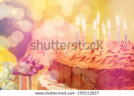 Birthday celebration - stock photo