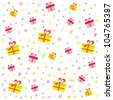 birthday pattern. Raster version - stock photo