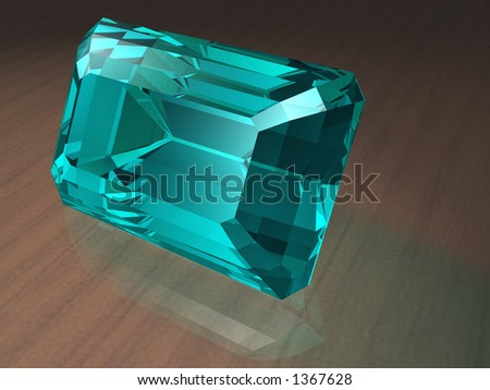Birthstone for March- Aquamarine - stock photo