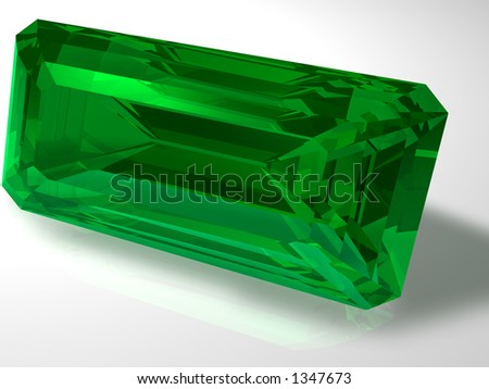 Birthstone for May- Emerald - stock photo