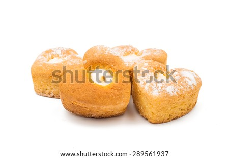 biscuit heart on a white background - stock photo