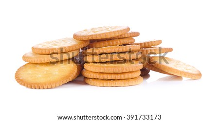 Biscuit  on a white background. - stock photo