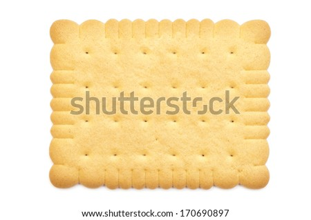 biscuit on white background  - stock photo