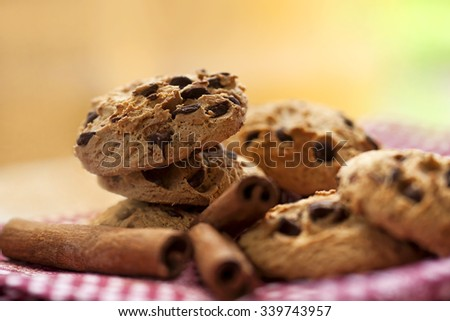 biscuit with cinnamon - stock photo