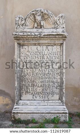 Bishop palace. Amelia. Umbria. Italy. - stock photo