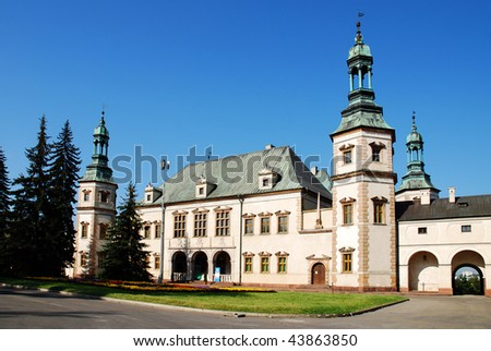 Bishop `s Palace in Kielce. Poland - stock photo