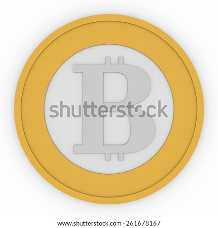 Bitcoin, new virtual money for internet trading and business - stock photo