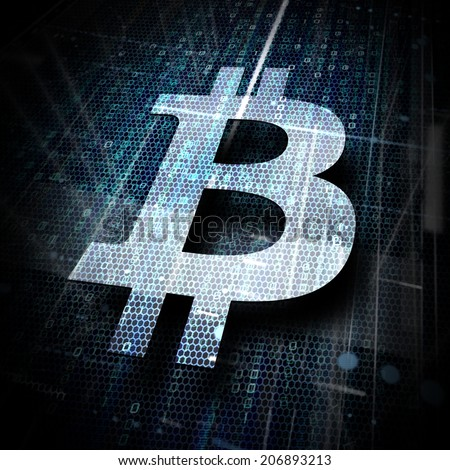 bitcoin symbol - stock photo